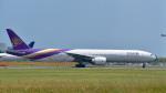 パンダさんが、成田国際空港で撮影したタイ国際航空 777-3D7/ERの航空フォト(写真)