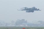 臨時特急7032Mさんが、福岡空港で撮影したアメリカ空軍 C-17A Globemaster IIIの航空フォト(写真)