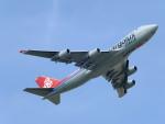 じゅんぼ〜さんが、成田国際空港で撮影したカーゴルクス・イタリア 747-4R7F/SCDの航空フォト(写真)