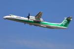 トリトンブルーSHIROさんが、秋田空港で撮影したANAウイングス DHC-8-402Q Dash 8の航空フォト(写真)