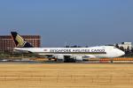 SGR RTさんが、成田国際空港で撮影したシンガポール航空カーゴ 747-412F/SCDの航空フォト(写真)