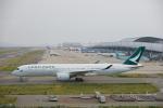 おぺちゃんさんが、関西国際空港で撮影したキャセイパシフィック航空 A350-941XWBの航空フォト(写真)