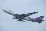 水月さんが、関西国際空港で撮影したタイ国際航空 747-4D7の航空フォト(写真)