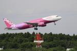 ☆ライダーさんが、成田国際空港で撮影したピーチ A320-214の航空フォト(写真)
