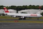 ☆ライダーさんが、成田国際空港で撮影したスイスインターナショナルエアラインズ A340-313Xの航空フォト(写真)
