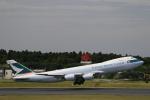 ☆ライダーさんが、成田国際空港で撮影したキャセイパシフィック航空 747-867F/SCDの航空フォト(写真)
