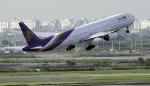 planetさんが、スワンナプーム国際空港で撮影したタイ国際航空 777-3D7の航空フォト(写真)