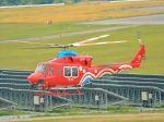 ナナオさんが、石見空港で撮影した岡山県消防防災航空隊 412EPの航空フォト(写真)