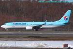 いおりさんが、新千歳空港で撮影した大韓航空 737-8LHの航空フォト(写真)