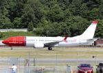 Bokuranさんが、ボーイングフィールドで撮影したノルウェー・エア・インターナショナル 737-8-MAXの航空フォト(写真)