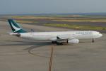 きんめいさんが、中部国際空港で撮影したキャセイパシフィック航空 A330-343Xの航空フォト(写真)