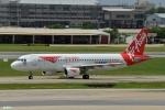 妄想竹さんが、ドンムアン空港で撮影したタイ・エアアジア A320-216の航空フォト(写真)
