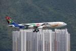 トールさんが、香港国際空港で撮影した南アフリカ航空 A340-313Xの航空フォト(写真)