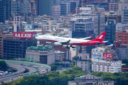 まいけるさんが、台北松山空港で撮影した上海航空 A330-343Xの航空フォト(写真)