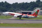 こだしさんが、成田国際空港で撮影したティーウェイ航空 737-8HXの航空フォト(写真)