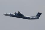 こだしさんが、成田国際空港で撮影したオーロラ DHC-8-402Q Dash 8の航空フォト(写真)