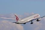 安芸あすかさんが、マンチェスター空港で撮影したカタール航空 787-8 Dreamlinerの航空フォト(写真)