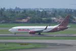 かずまっくすさんが、スカルノハッタ国際空港で撮影したマリンド・エア 737-8GPの航空フォト(写真)