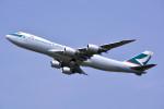 トロピカルさんが、成田国際空港で撮影したキャセイパシフィック航空 747-867F/SCDの航空フォト(写真)