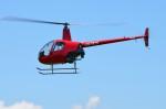 ヘリオスさんが、東京ヘリポートで撮影したアルファーアビエィション R22 Beta IIの航空フォト(写真)