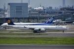 よしポンさんが、羽田空港で撮影したルフトハンザドイツ航空 A340-642Xの航空フォト(写真)