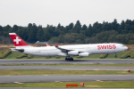 どりーむらいなーさんが、成田国際空港で撮影したスイスインターナショナルエアラインズ A340-313の航空フォト(写真)