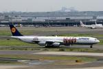 スポット110さんが、羽田空港で撮影したルフトハンザドイツ航空 A340-642Xの航空フォト(写真)
