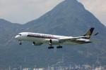 トールさんが、香港国際空港で撮影したシンガポール航空 A350-941XWBの航空フォト(写真)