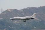 トールさんが、香港国際空港で撮影した南山公務 G-IV-X Gulfstream G450の航空フォト(写真)