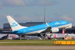 安芸あすかさんが、マンチェスター空港で撮影したKLMオランダ航空 737-7K2の航空フォト(写真)