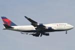 camelliaさんが、成田国際空港で撮影したデルタ航空 747-451の航空フォト(写真)