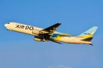 車掌さんが、新千歳空港で撮影したAIR DO 767-33A/ERの航空フォト(写真)