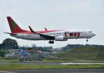 mojioさんが、成田国際空港で撮影したティーウェイ航空 737-8GJの航空フォト(写真)