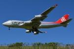 さくらの城南山。さんが、成田国際空港で撮影したカーゴルクス・イタリア 747-4R7F/SCDの航空フォト(写真)