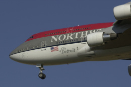 senyoさんが、成田国際空港で撮影したノースウエスト航空 747-451の航空フォト(写真)