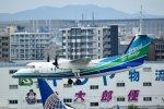 rYo1007さんが、福岡空港で撮影したオリエンタルエアブリッジ DHC-8-201Q Dash 8の航空フォト(写真)