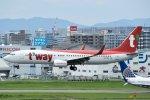 rYo1007さんが、福岡空港で撮影したティーウェイ航空 737-8ASの航空フォト(写真)