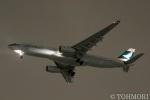 遠森一郎さんが、福岡空港で撮影したキャセイパシフィック航空 A330-342Xの航空フォト(写真)