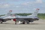 木人さんが、千歳基地で撮影したアメリカ空軍 F-16CM-50-CF Fighting Falconの航空フォト(写真)