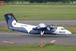 なごやんさんが、新千歳空港で撮影したオーロラ DHC-8-201Q Dash 8の航空フォト(写真)