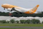 ☆ライダーさんが、成田国際空港で撮影したスクート 787-8 Dreamlinerの航空フォト(写真)