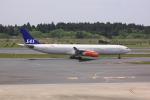 けいとパパさんが、成田国際空港で撮影したスカンジナビア航空 A340-313Xの航空フォト(写真)