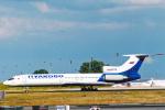 菊池 正人さんが、パリ シャルル・ド・ゴール国際空港で撮影したプルコボ航空 Tu-154Mの航空フォト(写真)