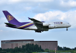 mojioさんが、成田国際空港で撮影したタイ国際航空 A380-841の航空フォト(写真)