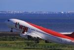 門ミフさんが、佐賀空港で撮影したティーウェイ航空 737-8KNの航空フォト(写真)