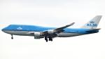 誘喜さんが、香港国際空港で撮影したKLMオランダ航空 747-406Mの航空フォト(写真)