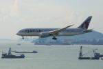 よしぱるさんが、香港国際空港で撮影したカタール航空 787-8 Dreamlinerの航空フォト(写真)