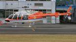 航空見聞録さんが、群馬ヘリポートで撮影した新日本ヘリコプター 407の航空フォト(写真)