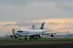 おかめさんが、羽田空港で撮影したキャセイパシフィック航空 747-412の航空フォト(写真)