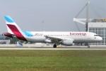 よりさんが、ミュンヘン・フランツヨーゼフシュトラウス空港で撮影したユーロウイングス A320-216の航空フォト(写真)